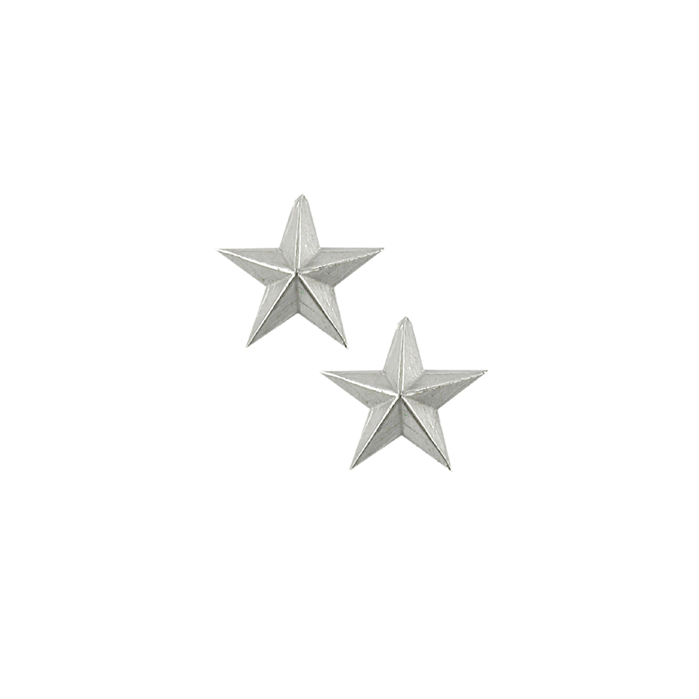 Silver 3D star earrings