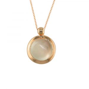 Moonstone bubble pendant rose gold