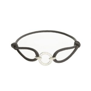 Disc grey friendship bracelet silver
