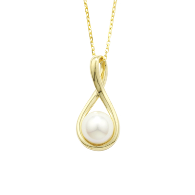 Handmade yellow gold twist pearl pendant london road jewellery cultured freshwater pearl pendant yellow gold aloadofball Gallery