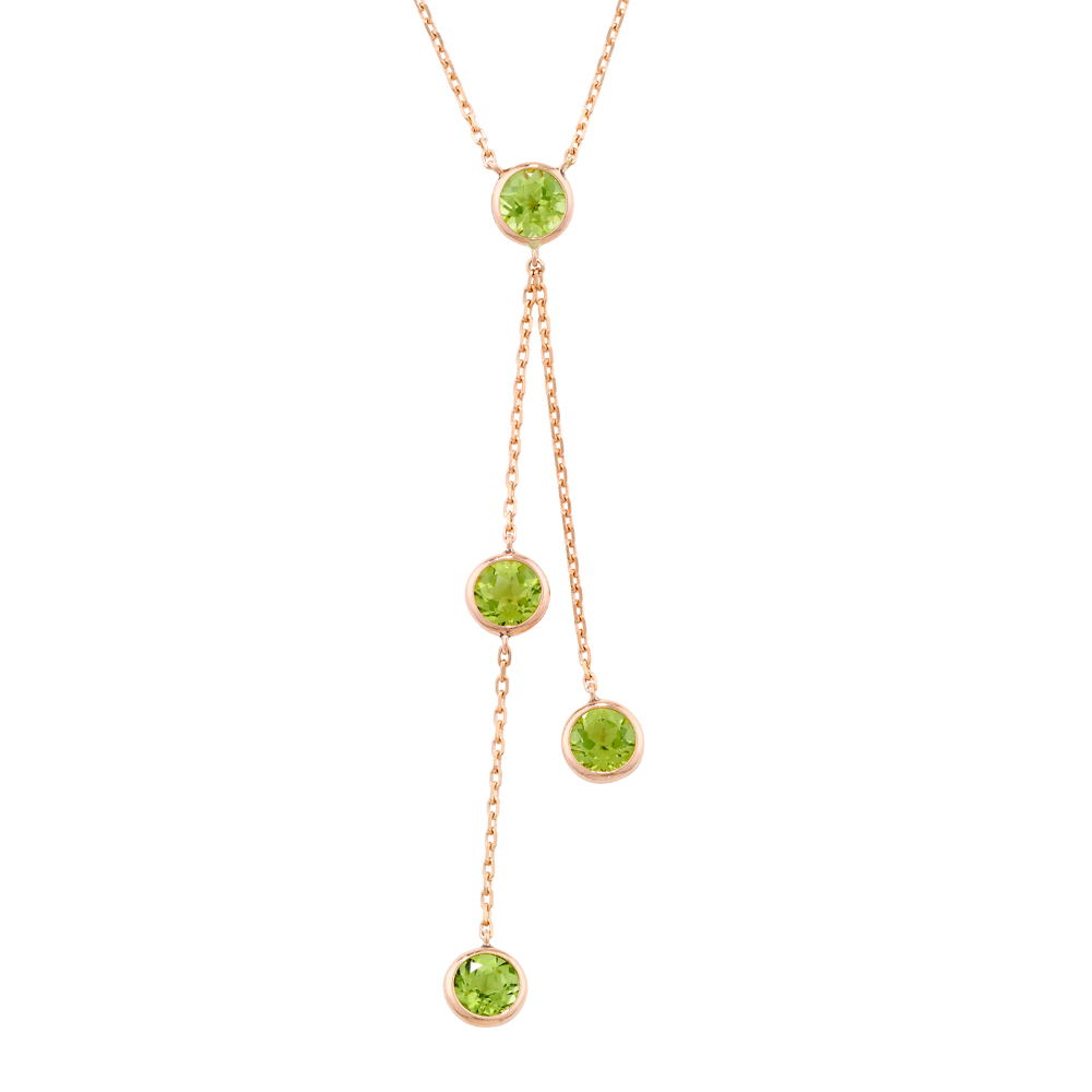 London Road Jewellery Pimlico Rose Gold Peridot Raindrop Necklace UZOoM68wi