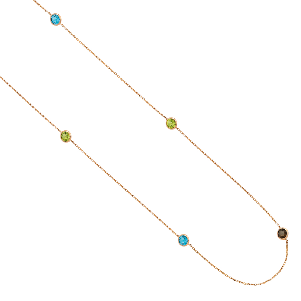 Gemstone necklace rose gold