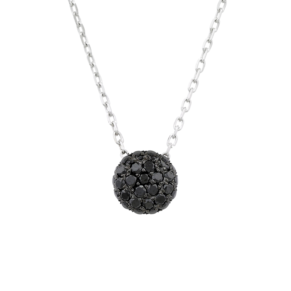 pendant products silver in black necklace sterling with chain diamond inch ct