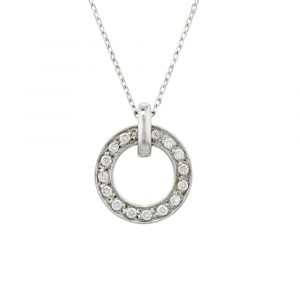 Diamond meridian pendant white gold