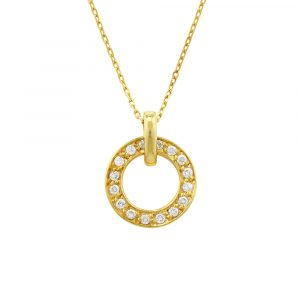 Diamond meridian pendant yellow gold