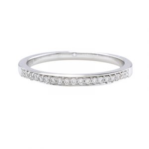 Diamond eternity stack ring white gold