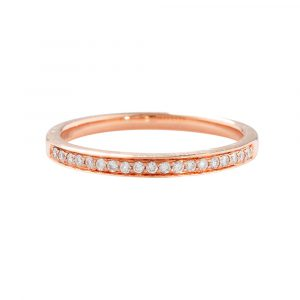 Diamond eternity ring rose gold