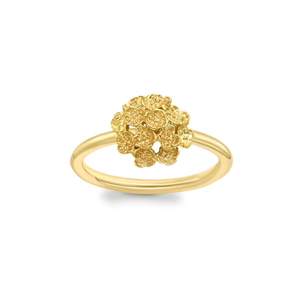Posy cluster ring yellow gold