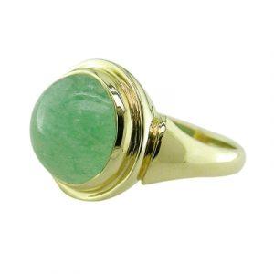 Aventurine cocktail ring yellow gold