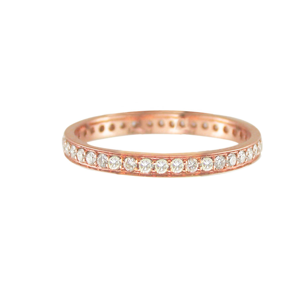 Diamond full eternity ring rose gold