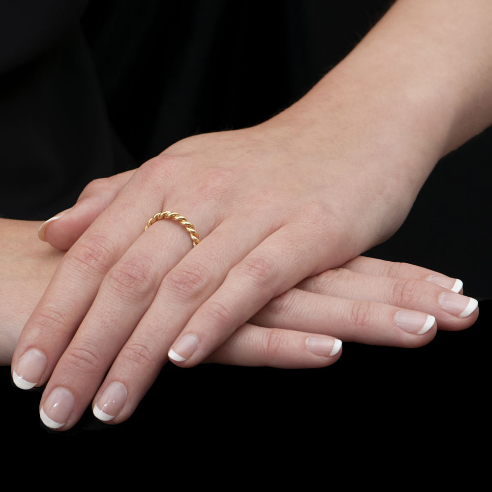 Designer Yellow Gold Rope Stack Ring | London Road Jewellery