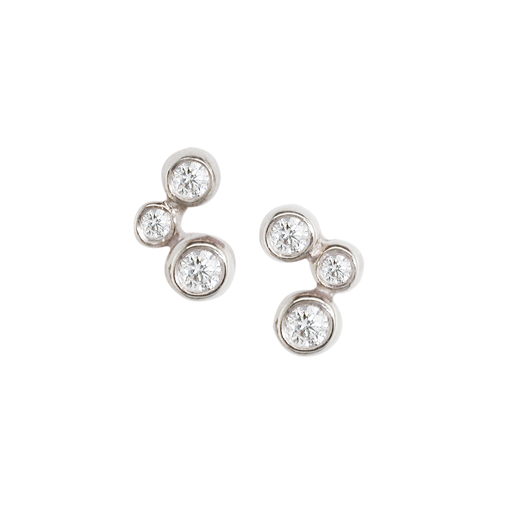 how to clean white gold earrings