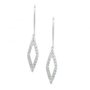 White gold diamond Geo drop earrings