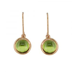 Rose gold peridot drop Bubble earrings