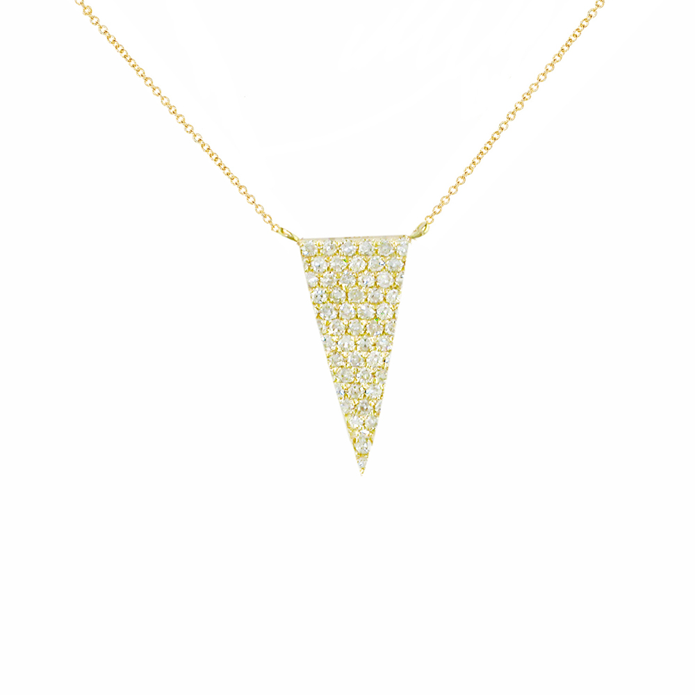 Yellow gold gold diamond Geo pendant