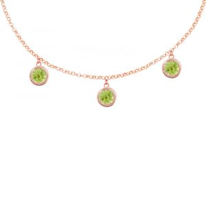 Rose gold peridot Dew Drop necklace