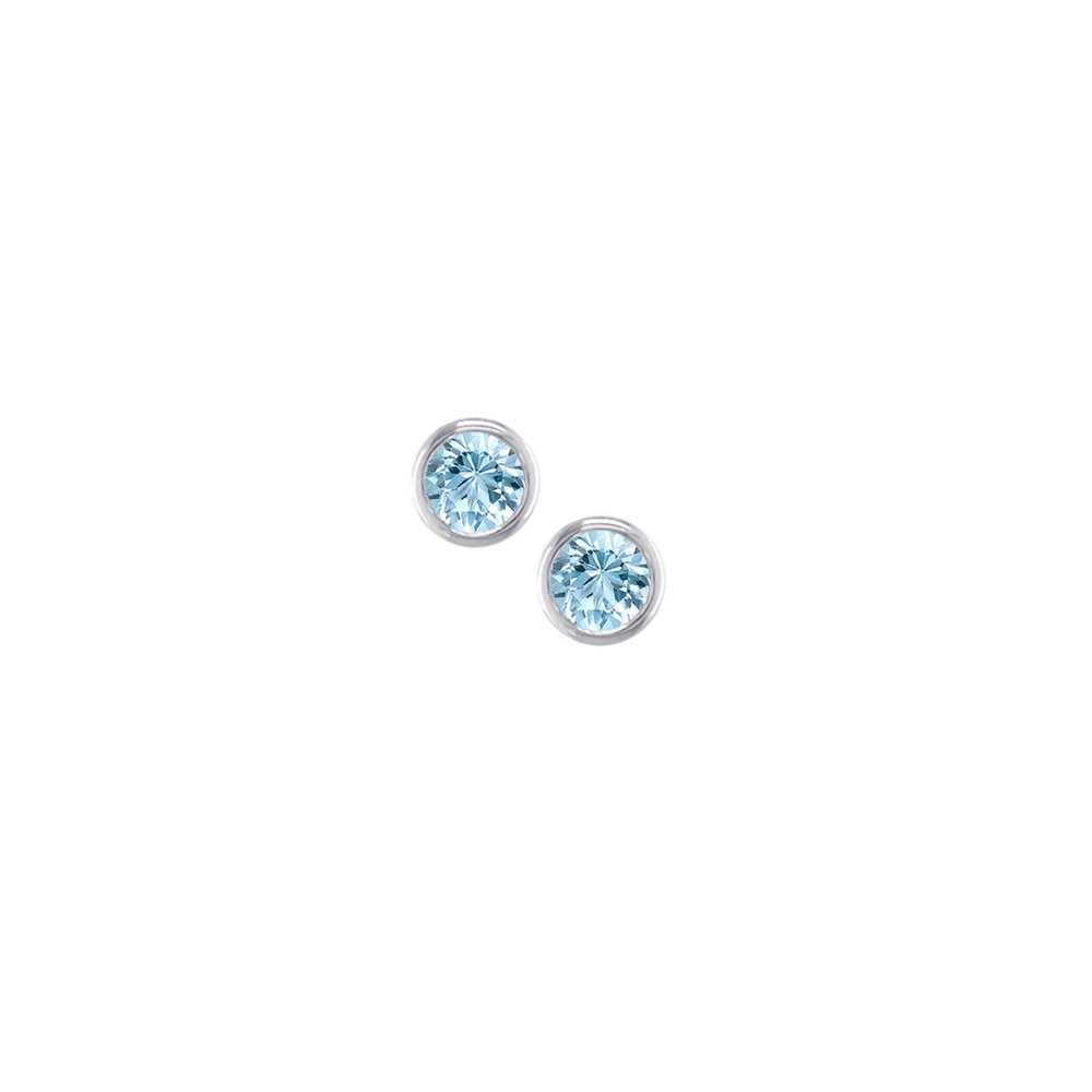 White gold aquamarine stud earrings