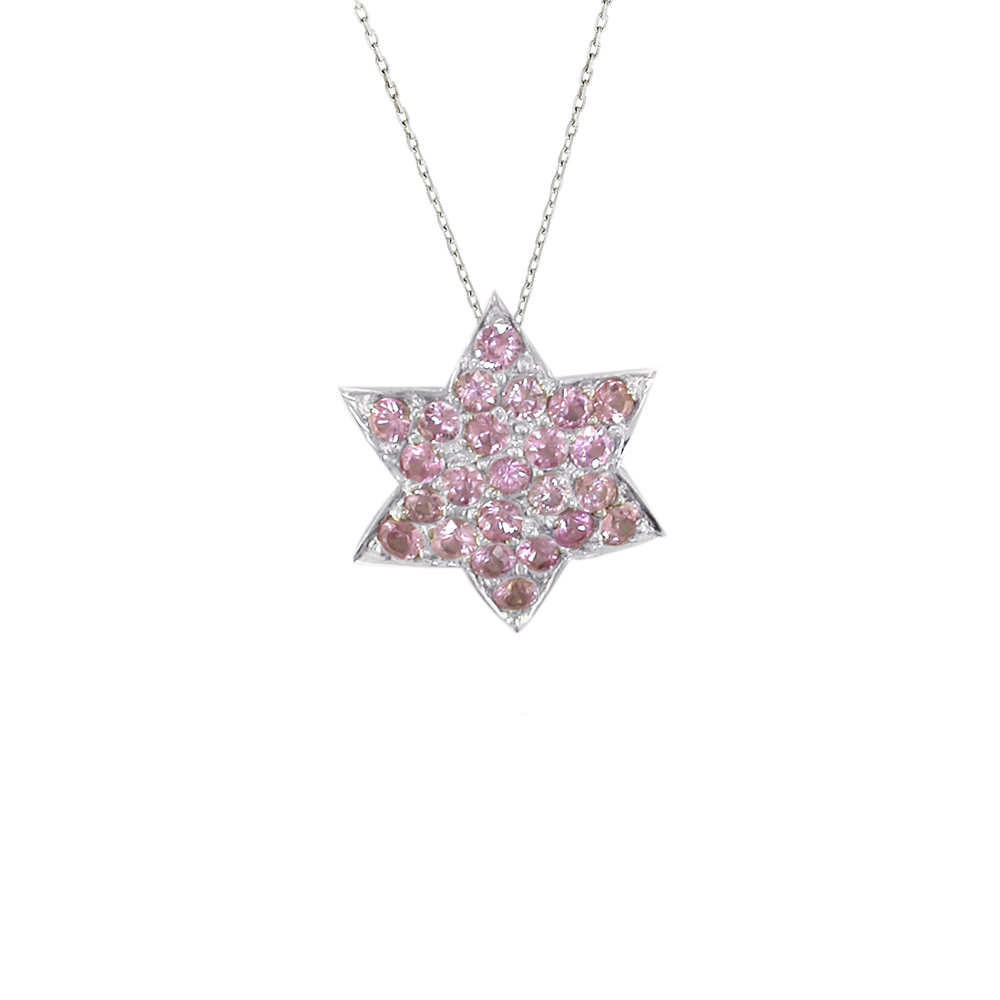 jewellery white sapphire london star pink gold road pendant product