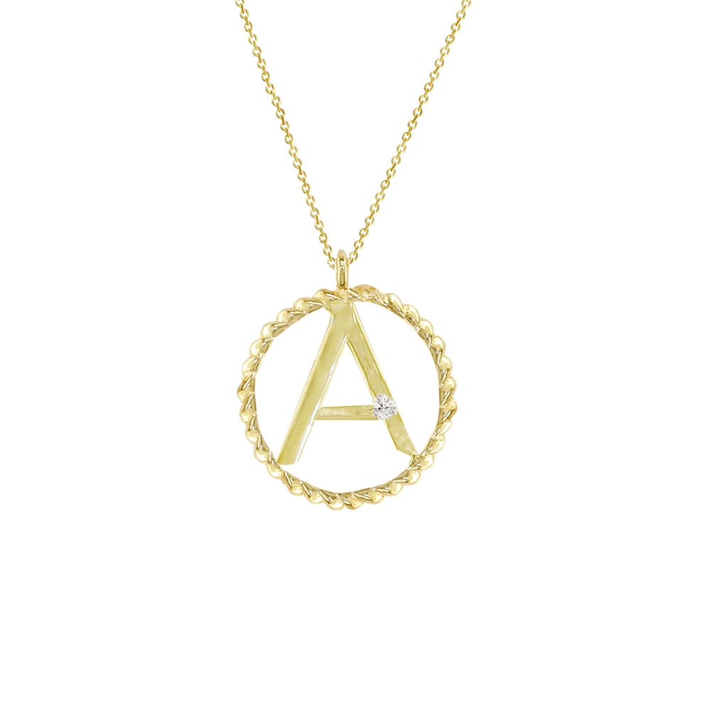 The diamond letters collection from london road jewellery yellow gold diamond initial a pendant audiocablefo
