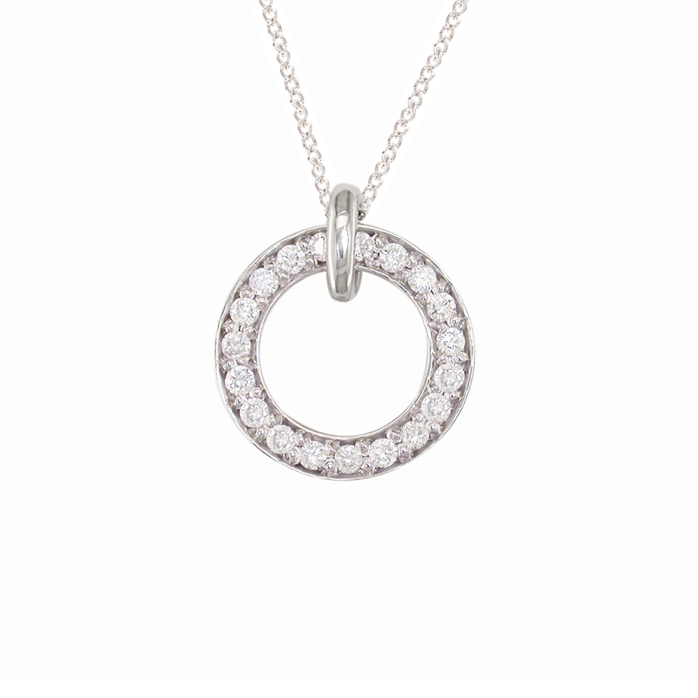 White gold diamond Meridian large pendant