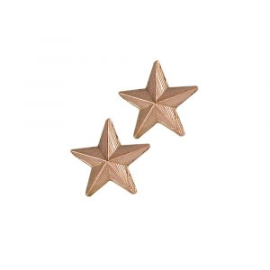 3D star stud earrings rose gold
