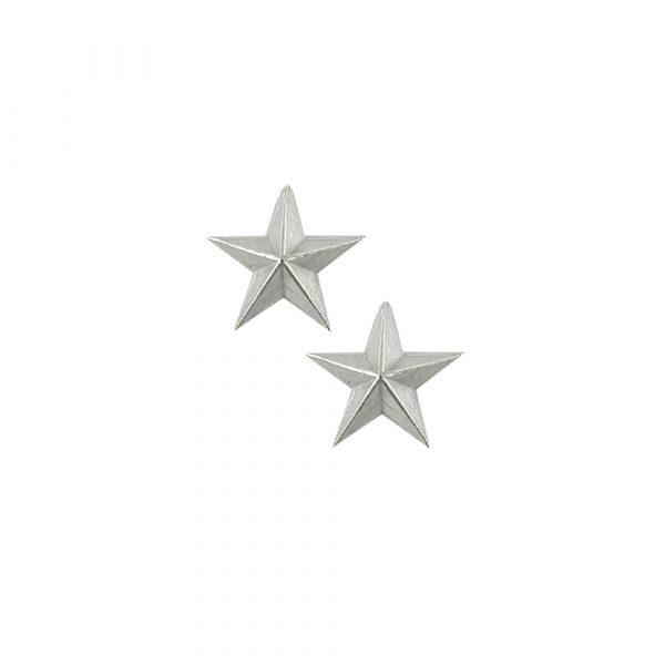 Silver 3D star earrings