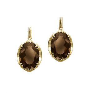 AE550-yellow-gold-smoky-quartz-cocktail-earrings
