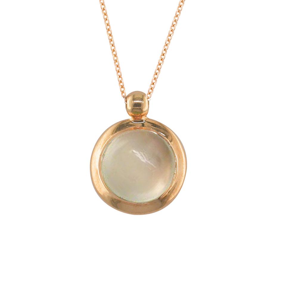 Moonstone bubble pendant rose gold