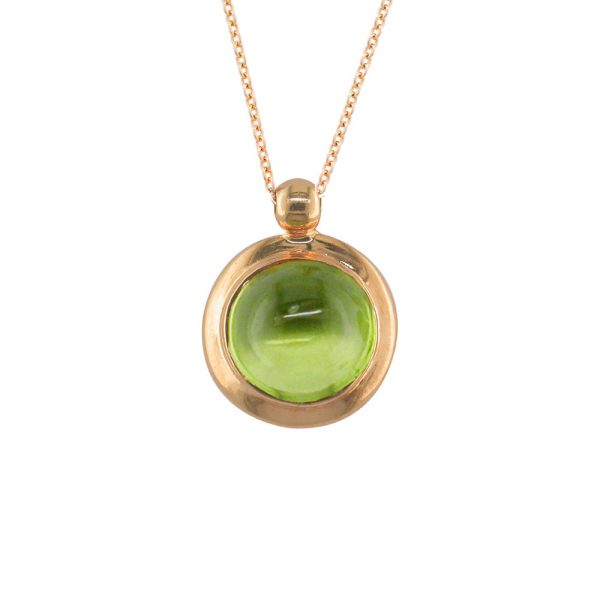 Peridot bubble pendant rose gold