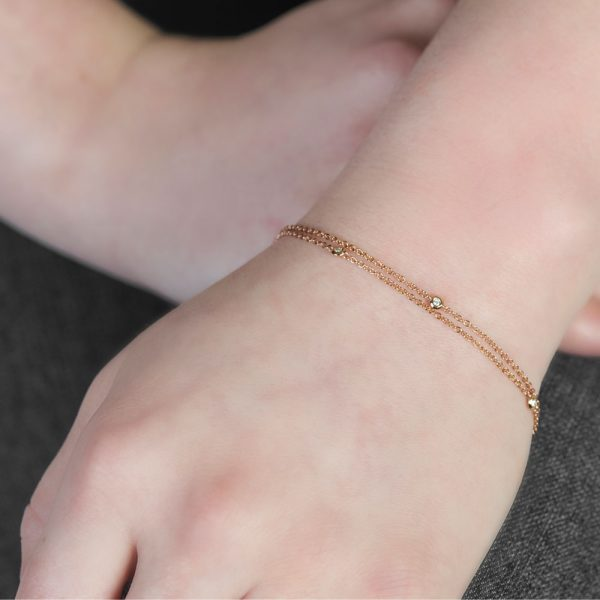 Rose gold diamond Raindrop bracelet