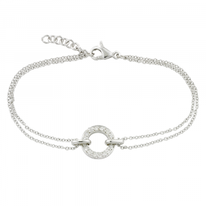 White gold diamond circle Meridian bracelet