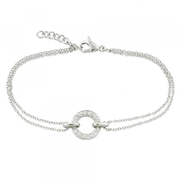 White gold diamond circle Meridian bracelet