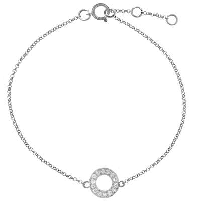 Diamond meridian bracelet white gold