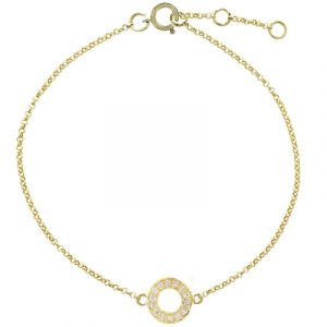 Diamond meridian bracelet yellow gold