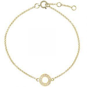 Diamond meridian bracelet yellow gold