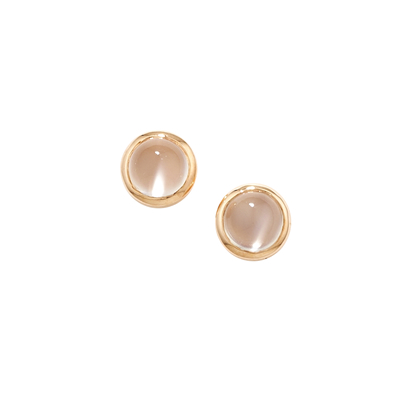 Moonstone bubble stud earrings rose gold