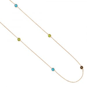 Multi Gemstone necklace rose gold