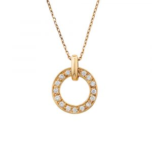 Diamond meridian pendant rose gold