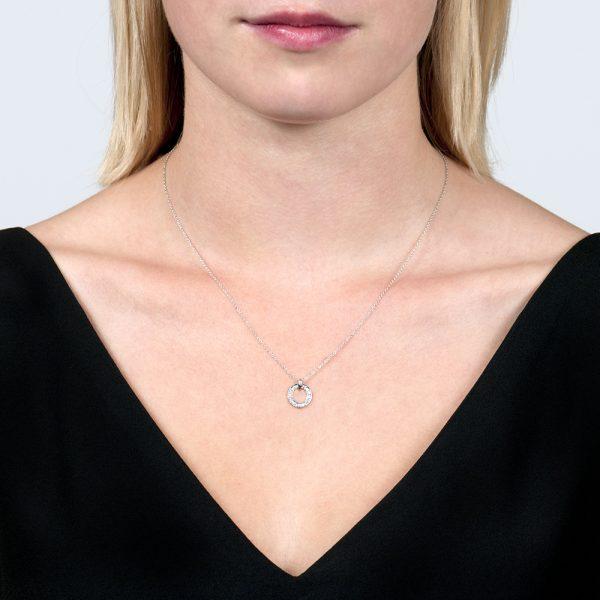White gold diamond Meridian pendant