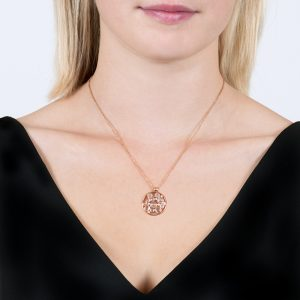 Rose Gold Diamond and Moonstone Bubble Cluster Pendant