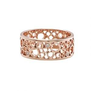 Diamond bubble ring rose gold