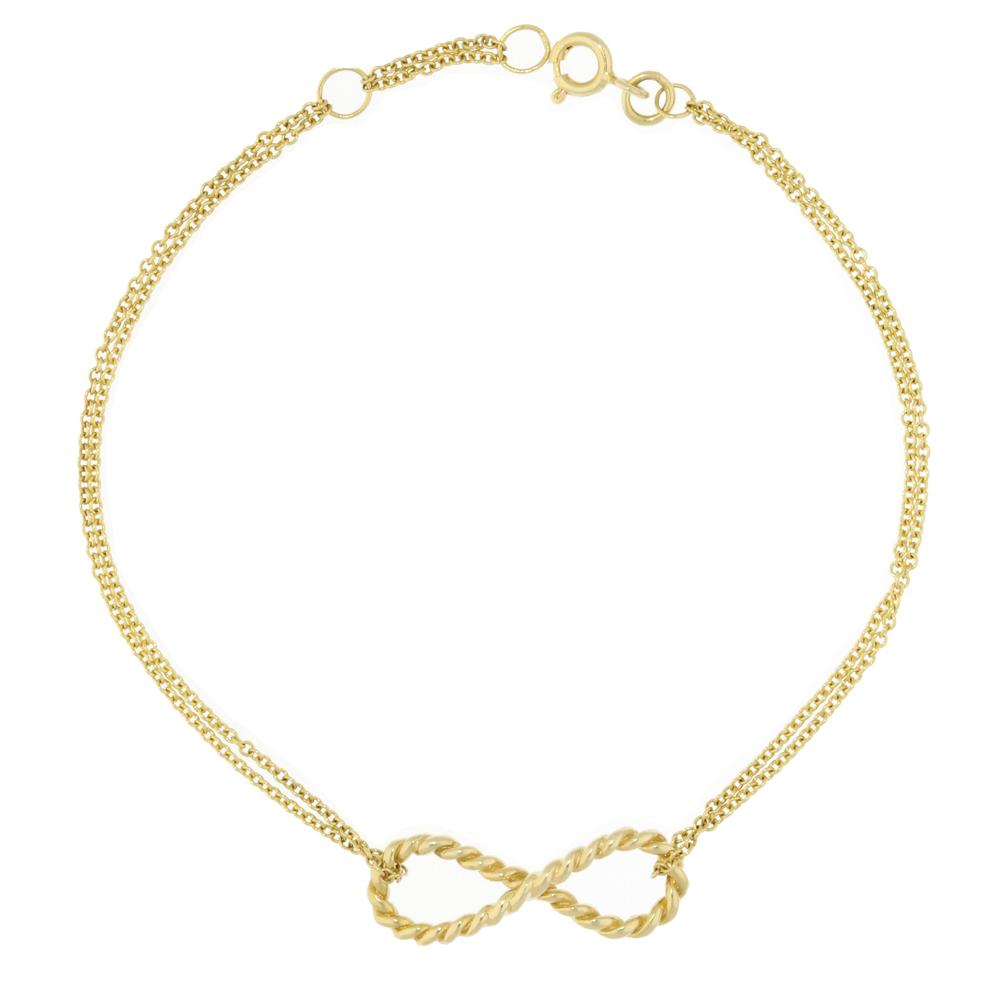 Elegant Yellow Gold Infinity Bracelet