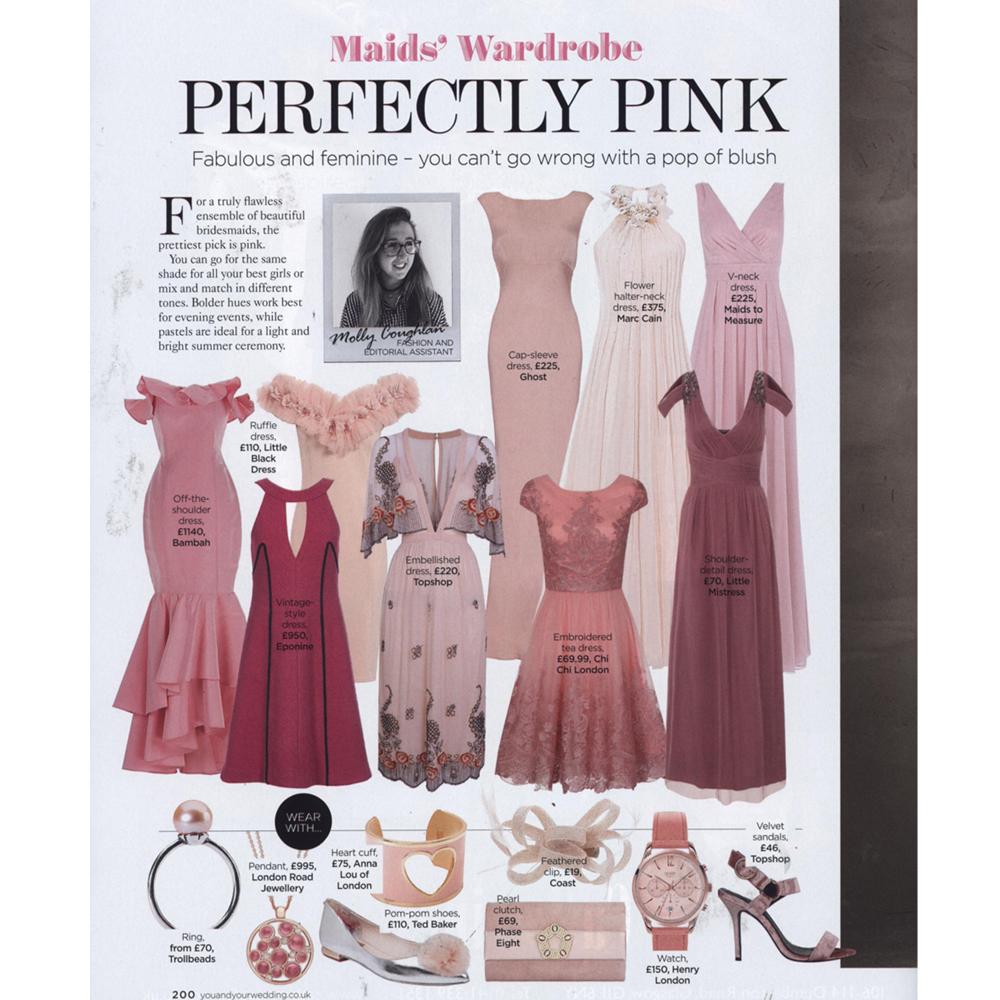 Rose gold diamond pink tourmaline Bubble pendant