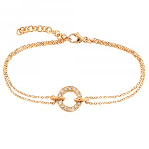 Diamond meridian bracelet rose gold