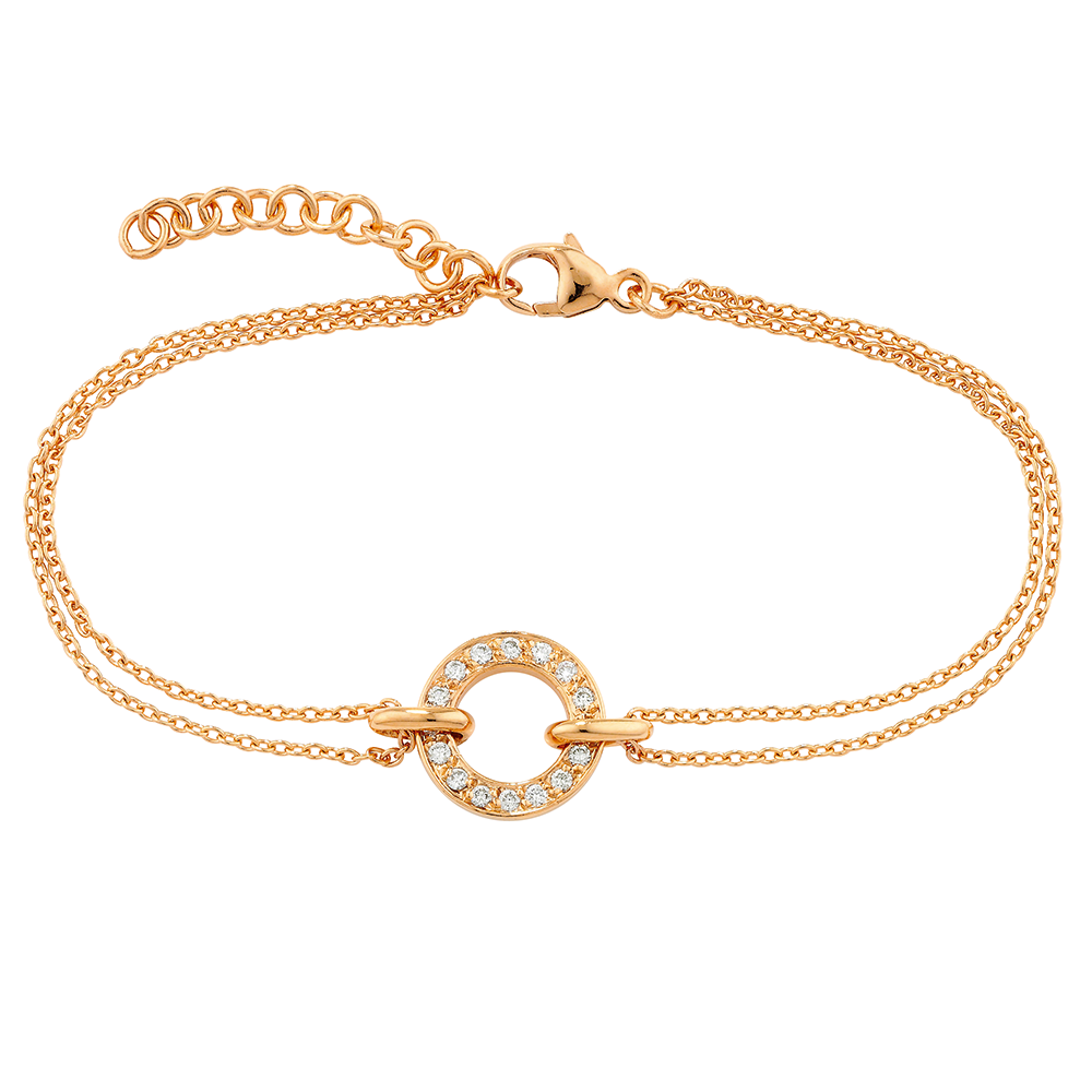 Diamond meridian bracelet rose gold