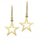 Modern Rose Gold Starry Night Star Drop Earrings