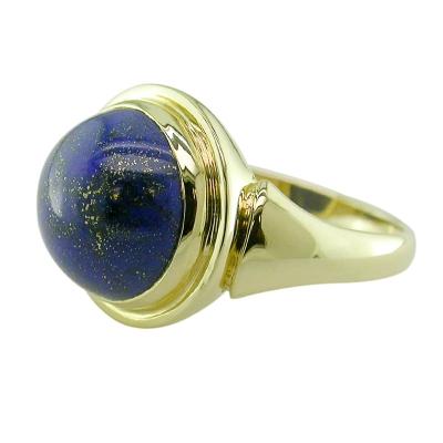 Lapiz lazuli cocktail ring yellow gold