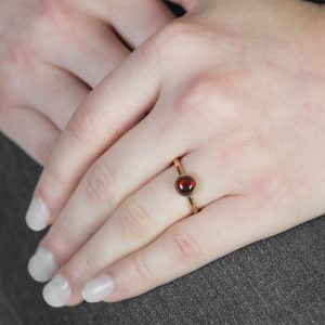 Rose Gold Garnet Bubble Stacking Ring