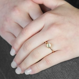 Rose Gold Moonstone Bubble Stacking Ring