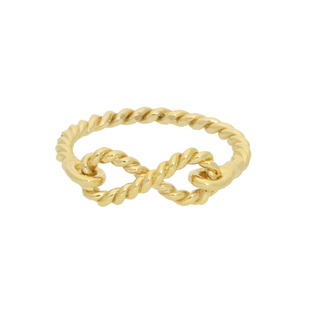 Infinity ring yellow gold